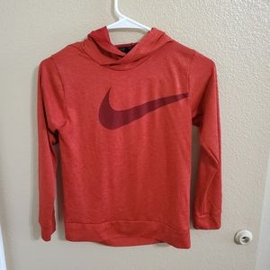 Nike Boys Dri Fit Long Sleeve Hooded Shirt sz S